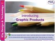 Introducing Graphic Products - Kingsdown School