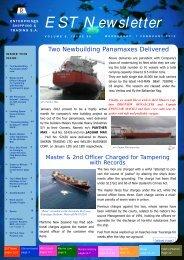 EST Newsletter - Enterprises Shipping and Trading SA