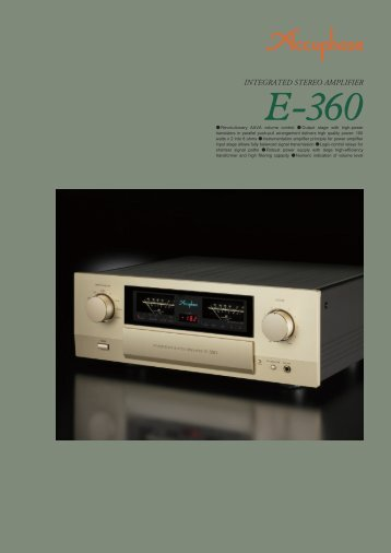 English Catalog - Accuphase