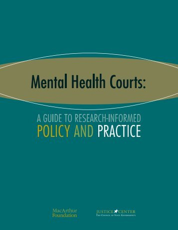 Mental Health Courts: A Guide to Research-Informed Policy