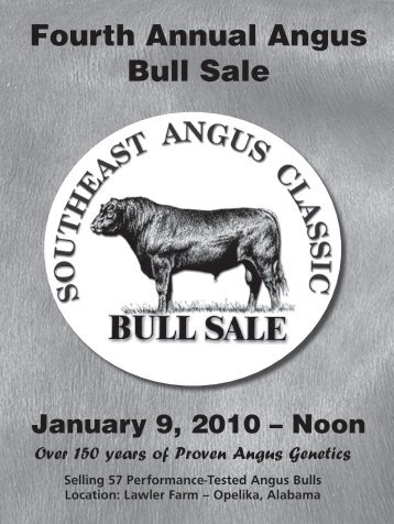 Fourth Annual Angus Bull Sale - Angus Journal