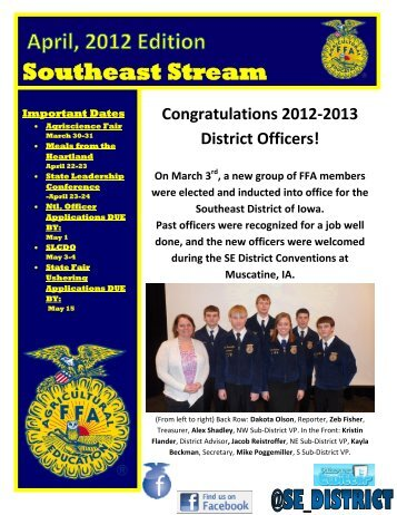 Download april edition here - Iowa FFA Association