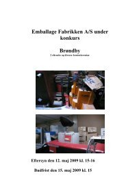 Emballage Fabrikken A/S under konkurs Brøndby - konkurser.dk
