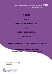 Wirral Medical Microbiology document - Wirral University Teaching ...