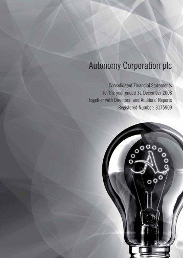 Autonomy Annual Report 2008 - Alle jaarverslagen