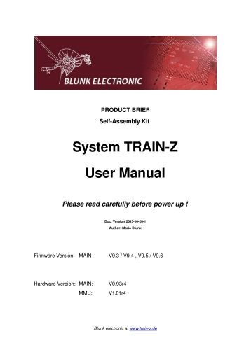 User Manual System TRAIN-Z