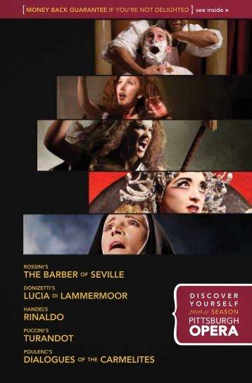 the barber of seville lucia di lammermoor rinaldo ... - Pittsburgh Opera