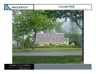 Cascade Mall General Information Criteria - Macerich