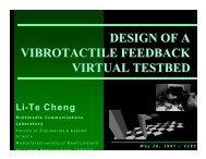 DESIGN OF A VIBROTACTILE FEEDBACK VIRTUAL ... - IEEE