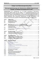Anlage 3 zum Netznutzungsvertrag (Gas ... - Rewag
