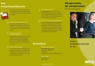 Broschüre Kundengarantien - RLG