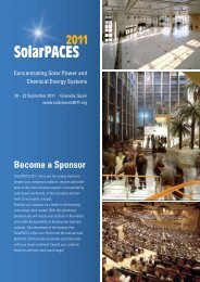 Become a Sponsor - SolarPACES2011