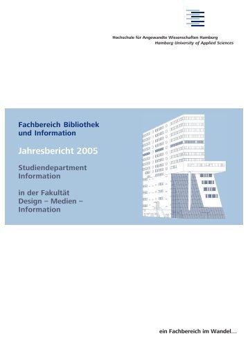 Jahresbericht 2005 - Department Information - HAW Hamburg