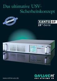 Datenblatt XANTO SR-Serie - Online USV Systeme