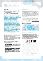 web-tv: groei bereik online tv content zet onverminderd door - Spot