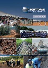 HIGHLIGHTS | 2013 - Equatorial Resources