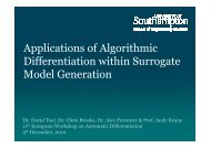 Applications of Algorithmic Differentiation within ... - ePrints Soton