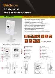 1.3 Megapixel Mini Box Network Camera - Camera Megapixels