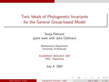 Toric Ideals of Phylogenetic Invariants for the General Group-based ...