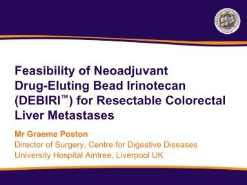 (DEBIRI™) for Resectable Colorectal Liver Metastases