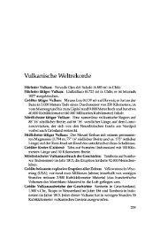 Vulkanische Weltrekorde - Springer