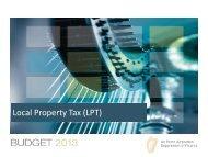 Local Property Tax (LPT) - Budget 2013