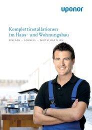 Komplettinstallationen im Haus- und Wohnungsbau - Uponor