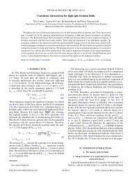 Consistent interactions for high-spin fermion fields - APS Link ...