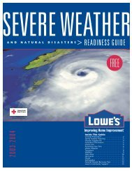 natural disasters - Lowe's