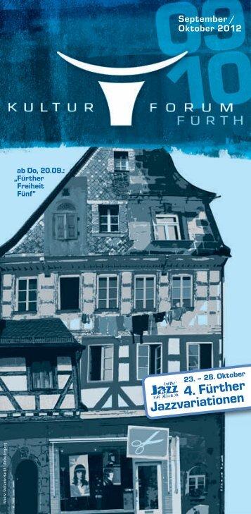 4. Fürther Jazzvariationen - Kulturforum - Stadt Fürth