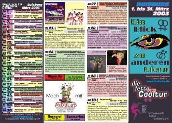 16. Programm - Queer.Life.Duisburg - HoKuDu