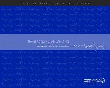 2009 Saint Barnabas Medical Center Foundation Annual Report - pdf