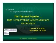 High Temp Probing System Solutions and Analysis - Semiconductor ...