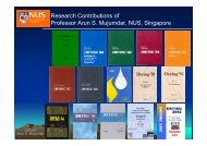 Current Research Area - National University of Singapore