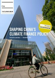 SHAPING CHINA'S CLIMATE FINANCE POLICY - The Climate Group
