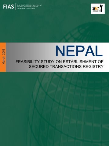 Feasibility Study on Establishment of Secured Transactions Registry