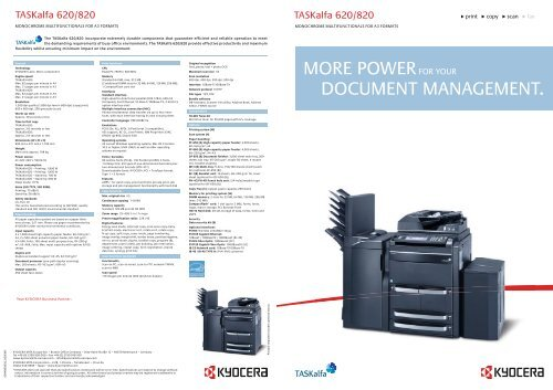 TASKalfa 620 820_PB_(EN) pdf - KYOCERA Document Solutions