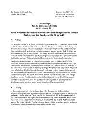 Tischvorlage für die Sitzung des Senats am 11. Januar ... - Bremen