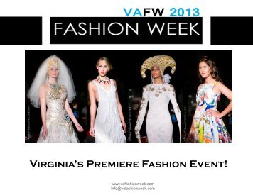 Virginia's Premiere Fashion Event! - VA Fashion Week 2012