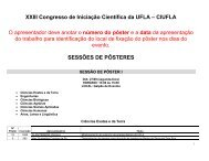 XXIII Congresso de Iniciação Científica da UFLA – CIUFLA O ...