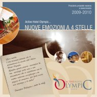 NUOVE EMOZIONI A 4 STELLE - Active Hotel Olympic