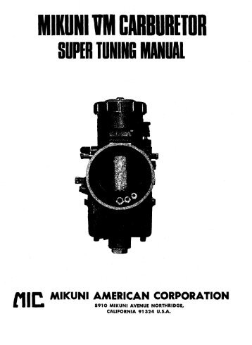 Mikuni BS (CV) Carburetor Rebuild Tutorial