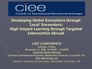 Intervention Abroad