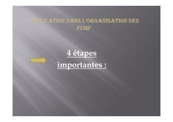 IMPLICATION DANS L'ORGANISATION DES PFMP - SBSSA
