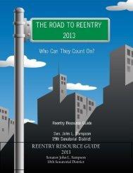 REENTRY RESOURCE GUIDE 2013 - New York State Senate