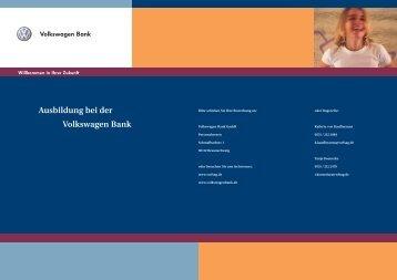 Ausbildung bei der Volkswagen Bank - Volkswagen Financial ...