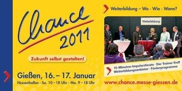 Gießen, 16. – 17. Januar - Chance