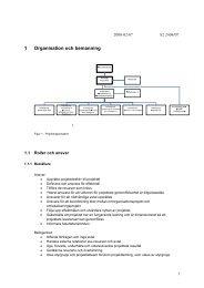 + plan för organisation och bemanning