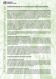 Facilite Internationale de Financement pour la Vaccination - Path