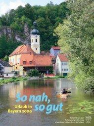 Urlaub in Bayern 2009 - Bund Naturschutz in Bayern eV